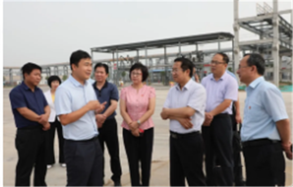 省委组织部、省商务厅来山西新石能源科技有限公司调研