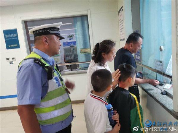正能量:忻州交警护送伤者就医,为伤者救治赢得宝贵时间