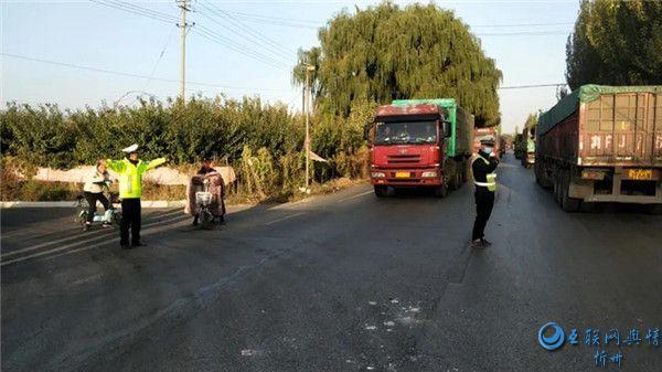 繁峙交警圆满完成2020年国庆 中秋两节期间道路交通安保任务