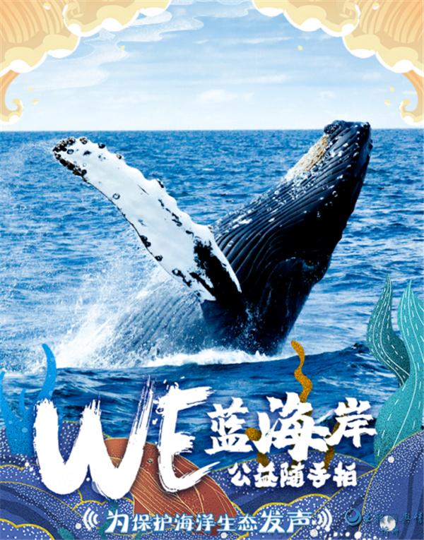 """用心传递蔚蓝之美,水密码为""""WE蓝海岸""""公益活动助力!"""