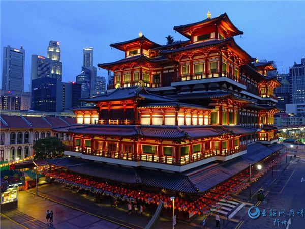 新加坡佛牙寺建筑风景图片