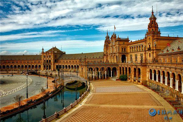 西班牙广场建筑风景图片