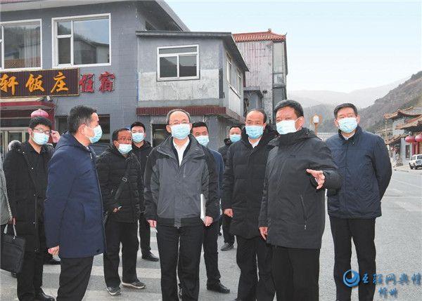 郑连生在五台山风景名胜区调研